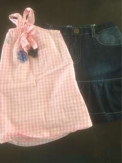 1 set blouse and skirt