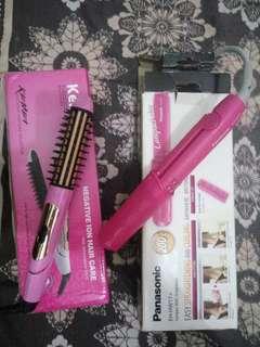 Catokan panasonic + Kemei straightener & curler