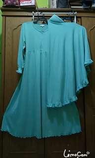 Gamis jersey set jilbab panjang