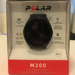 New Unboxed Polar M200 GPS Running Watch