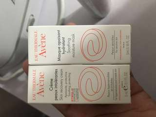 BN Avene Recovery Cream and Soothing Mask