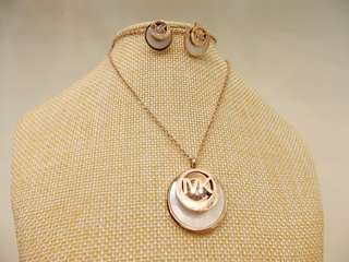Michael Kors Necklace Set with Earrings Titanium Steel