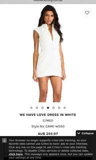 C/MEO WHITE LACE DRESS