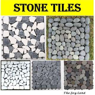 Stone floor tiles suitable for indoor or outdoor (EASY TO INSTALL)!