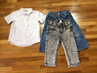 H&M Pumpkin Patch Boys Set 12-18 months