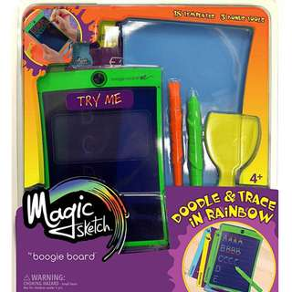"boogie board magic sketch -8.5""彩色透明電子手寫板"