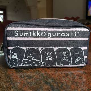 [Authentic] Sumikko Gurashi denim pencil case