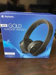 PlayStation VR gold wireless headset 7.1 藍牙耳筒