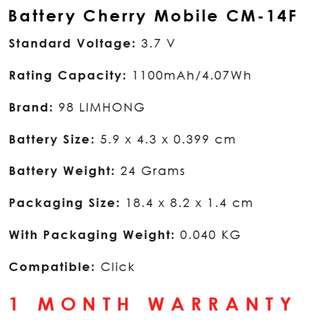 Cherry Mobile Click Battery CM-14F