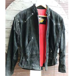 Harley Davidson Suede Leather Jacket - Made in USA