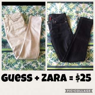 Guess Zara Jeans new