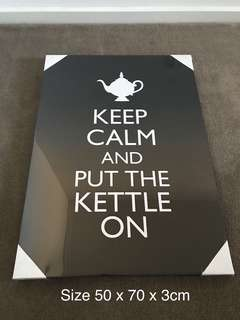 """Keep Calm And Put The Kettle On"" Canvas Wall Art Print"