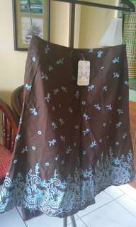 Womens A-line skirt, knee length,  corak batik