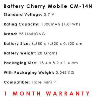 Cherry Mobile Flare Mini P1 Battery CM-14N