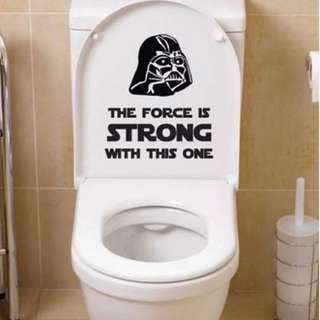Star Wars Classic Toilet Wall Decals Sticker