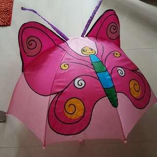 可愛立體蝴蝶造型雨傘/童傘