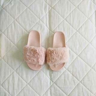 Fluffy Fur Women Slippers