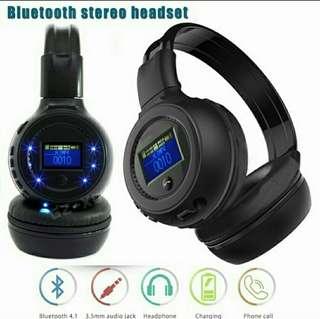 Stereo wireless bluetooth headphone / With call mic