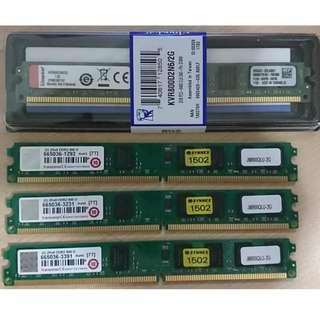 售創見 金士頓 DDR2 800 2G記憶體
