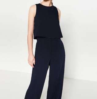 Zara navy jumpsuit (never worn)