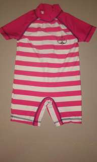 RASH GUARD FOR BABY, STRIPES RED AND WHITE by NEXT
