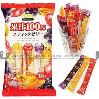 日本連線預購限時團日本製-100%純果汁 QQ果凍條 (18入/袋)