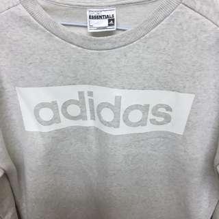 🚚 Adidas 灰色大學t
