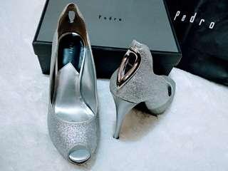 Sepatu PEDRO High Heels size36 Silver Glitter