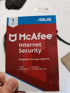 1 year subscription McAfee code