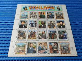 Civil War 1861 - 1865 The War Between The States Miniature Sheet