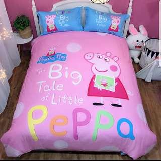 佩佩豬床套3件組