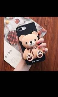 WTB 3D cute bear for iphone 7 plus