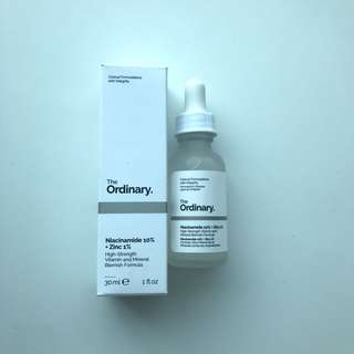 The Ordinary niancinamide 10%+ zinc 1%