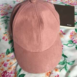 H&M Faux Suede Baseball Hat