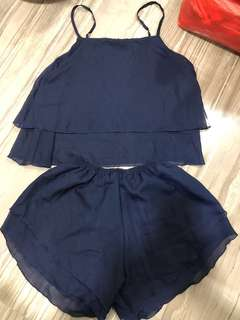 BN Navy Blue 2pcs Sleep Wear