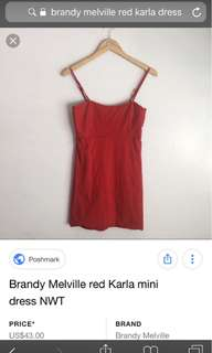 ♥️ BN Brandy Melville Red Karla Dress