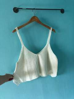 White crotchet beach knit top