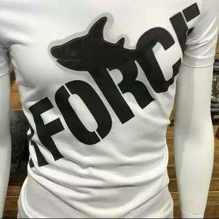 夏季男士絲光棉薄款短袖修身字母印花T恤