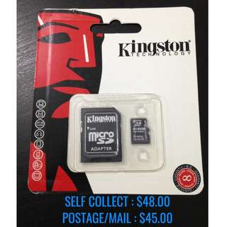 256GB Micro SD Kingston Class 10 Memory Card 100% NEW!