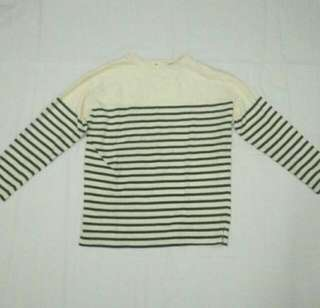 Navy Striped Long Sleeve