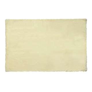 Square Cream Fur Rug 200 x 150