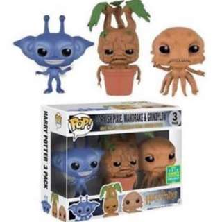 (Limited Edition) Funko pop Cornish Pixie, Mandrake, Grindylow (Harry potter 3 pack)