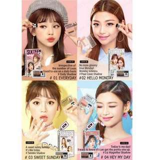 <AUTHENTIC INSTOCK> ALL 4 Colours! Korea 16 Brand Sixteen Eye Magazine Eyeshadow by Chosungah