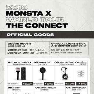 [Please order by 2359 25 May] Monsta X 2018 World Tour The Connect Official Goods