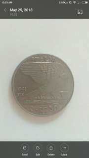 1941  italian 50 cents of Lira