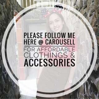 ❤️Please Follow me here at Carousell for affordable yet fashionable items ❤️