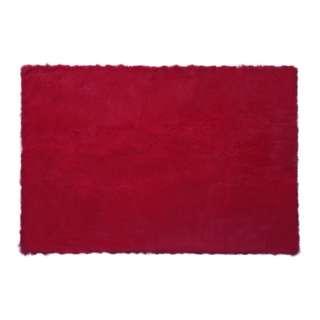 Square Red Chilli Fur Rug 200 x 150
