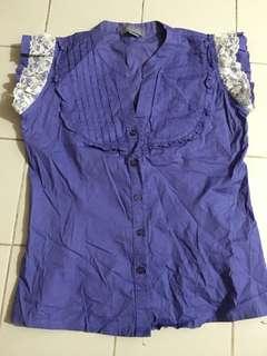 Blue violet top