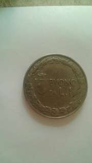 1924     1 Italian lira coin