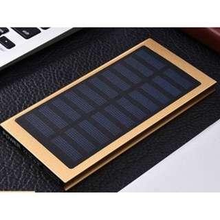 Ultra Thin Solar Charging Powerbank 20000mah